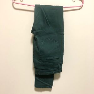 Madewell green skinny jeans, size 25